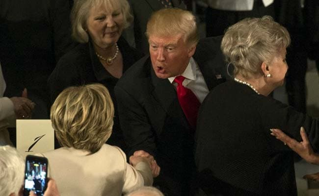 Trump Praises Clintons at Luncheon, 'Honored' by Their Presence