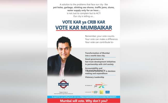 Aamir Khan Ad On Mumbai Civic Polls Promoted BJP, Allege Sena, Congress