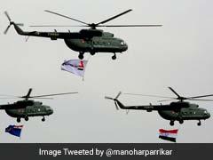 Defence Minister Manohar Parrikar Unveils Model Of Indian Multi-Role Chopper