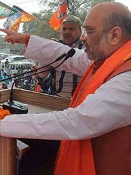 As Amit Shah Campaigned In Allahabad, Akhilesh-Rahul Were A Street Away