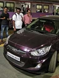 Panic As Cricketer Drives Car Onto Mumbai Platform In Rush Hour