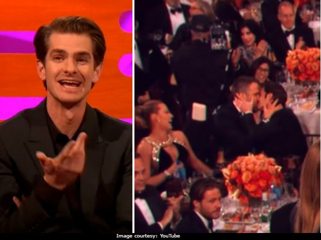 How Andrew Garfield And Ryan Reynolds Ended Up Kissing At Golden Globes