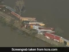 22 Train Cars Plunge Into River After Derailment In California