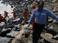 Chennai vs It's Oil Spill: Volunteers With Gloves Scoop Up Thick Tar