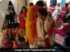 'I Do Too'. Not Ready To Let Go, Dog Takes Pheras With The Couple