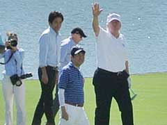 Donald Trump And Japan's PM Shinzo Abe Take A Swing At Golf Diplomacy