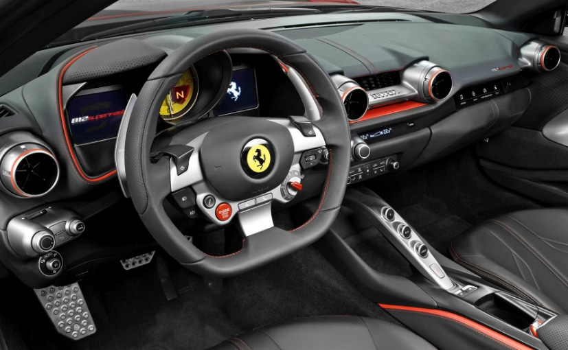 ferrari 812 superfast interior and dashboard