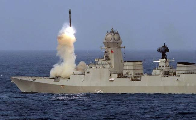 guided missile destroyer fires brahmos