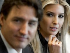US President's Daughter Ivanka Trump Takes Center Stage At Justin Trudeau Meeting