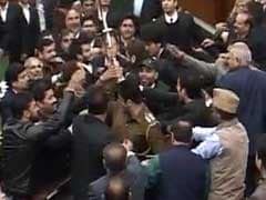 Chairs Thrown In Jammu And Kashmir Assembly Over Mehbooba Mufti's Article 370 Remark