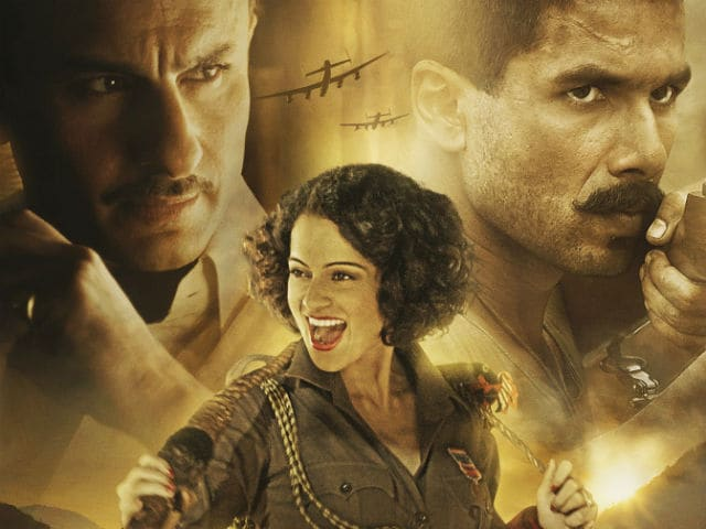 What Kangana Ranaut Said About Rangoon Co-Stars Shahid Kapoor, Saif Ali Khan