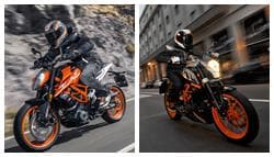 2017 KTM 390 Duke: Old vs New