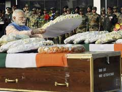 PM Modi Pays Tribute To Soldiers Who Died Fighting Terrorists In Kashmir