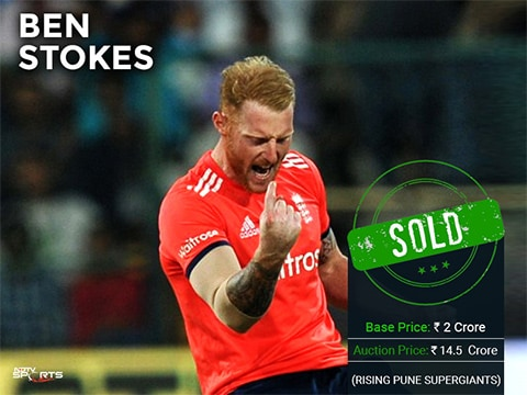 IPL Player Auction 2017: Ben Stokes becomes most expensive foreign player ever; Ishant Sharma, Irfan Pathan go unsold