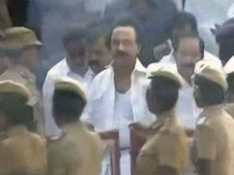 DMK\'s MK Stalin to sit on hunger strike at Chennai\'s Marina Beach, says he was \'manhandled\' in Tamil Nadu assembly