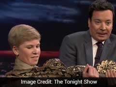 Like Father, Like Son. Steve Irwin Junior Impresses Crowd On Tonight Show