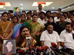 Sasikala, In Tears, Reveals To Lawmakers 'Jayalalithaa's Last words'