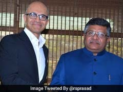 Microsoft's Satya Nadella Discusses Rural Digital Schemes With Union Minister RS Prasad