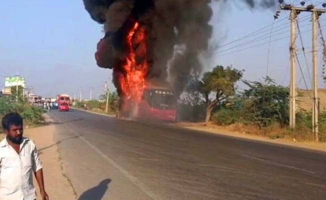 30 Passengers Survived This. Telangana Bus Was In Flames Within Moments