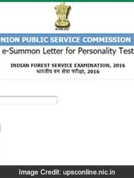 indian forest service ifs 2016 pesonality test interview call letters released download now