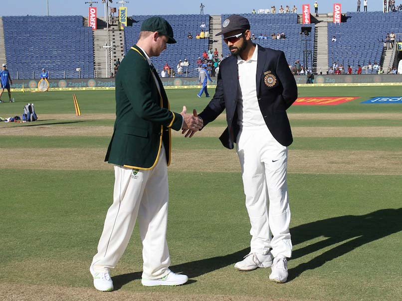 Live Cricket Score India vs Australia, 1st Day 1 in Pune: virat kohli and steve smith at the toss