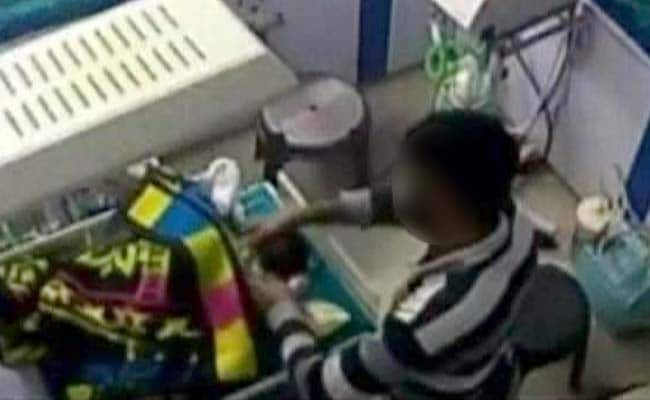 Hospital Ward Boy Caught On Camera Breaking Crying 3-Day Old Baby's Leg