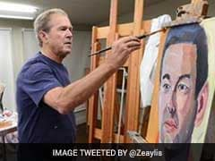 Former US President George W Bush's Portrait Collection Tops Bestseller Lists