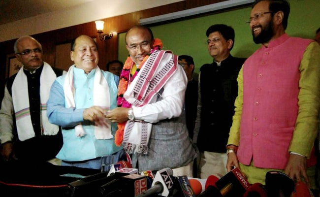 V Hangkhalian sworn-in as Protem Speaker of Manipur Assembly