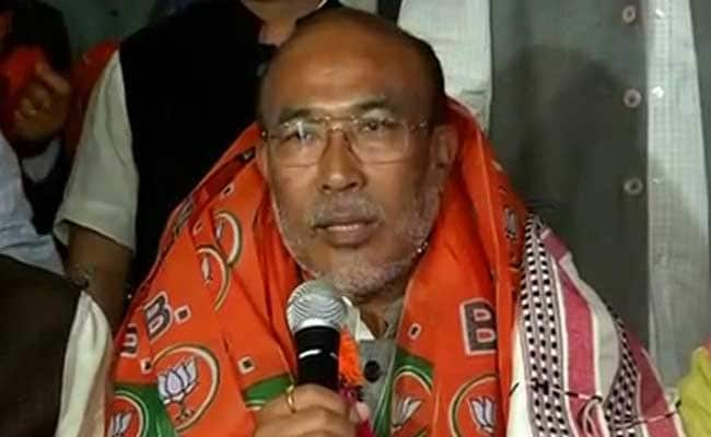 Led Coalition Government Takes Charge in Manipur