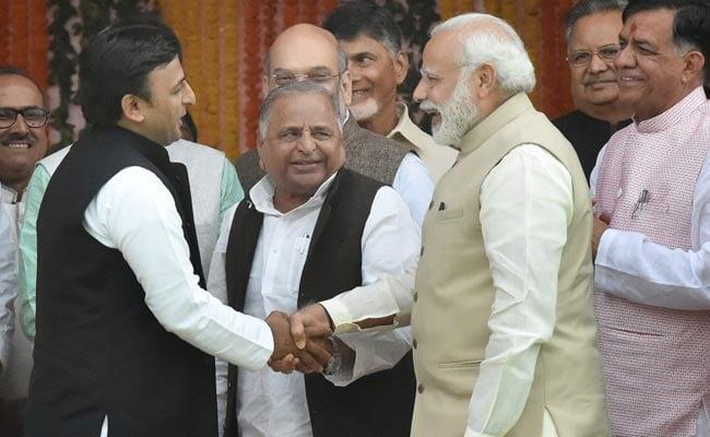 At Yogi Adityanath's Oath Ceremony, PM Narendra Modi's Bonhomie With The Samajwadis