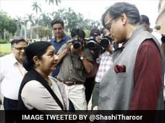 'False, Mischievous': Sushma Swaraj On Reports Of Shashi Tharoor Helping With Pak Draft
