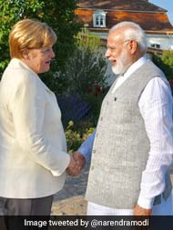 'Good Interaction,' Says PM Modi After Meeting With Angela Merkel