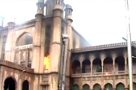 Andhra: Fire in high court, library gutted