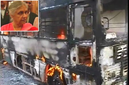 Delhi buses on fire: Sheila says no need to worry