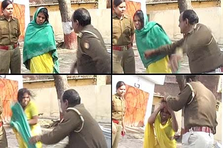 Cop fired for beating Dalit woman on camera