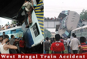 West Bengal train accident: 60 dead as train rams another