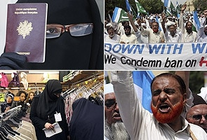 Hundreds in Pakistan protest France's burqa ban
