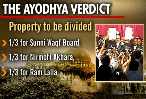 Ayodhya verdict: Allahabad High Court says divide land in 3 ways