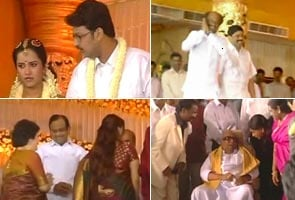 The united colours of DMK at family wedding in Madurai