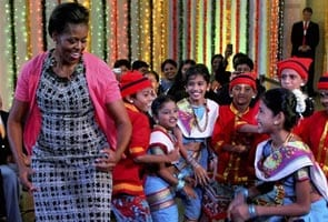 White House all praise for Michelle's India trip