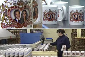 Prince William, Kate wedding mugs go into production