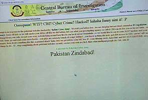 CBI website hacked by 'Pak Cyber Army'