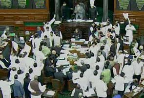 Students watch unruly MPs in Parliament
