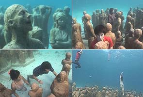 Cancun: Greenpeace activists stage underwater protests
