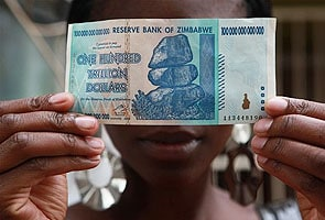 100 trillion Zimbabwe Bank notes, a collector's delight