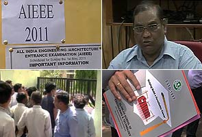 AIEEE question papers leaked in UP, test postponed
