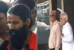 Baba Ramdev meets Pranab, Sibal; refuses to call off fast against corruption