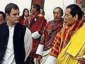 Bhutan royal couple given ceremonial reception; Rahul Gandhi attends