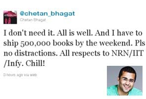 All is well, tweets Chetan Bhagat after IIT controversy