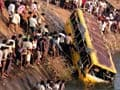 School bus carrying 45 students falls into canal in Andhra Pradesh, four dead